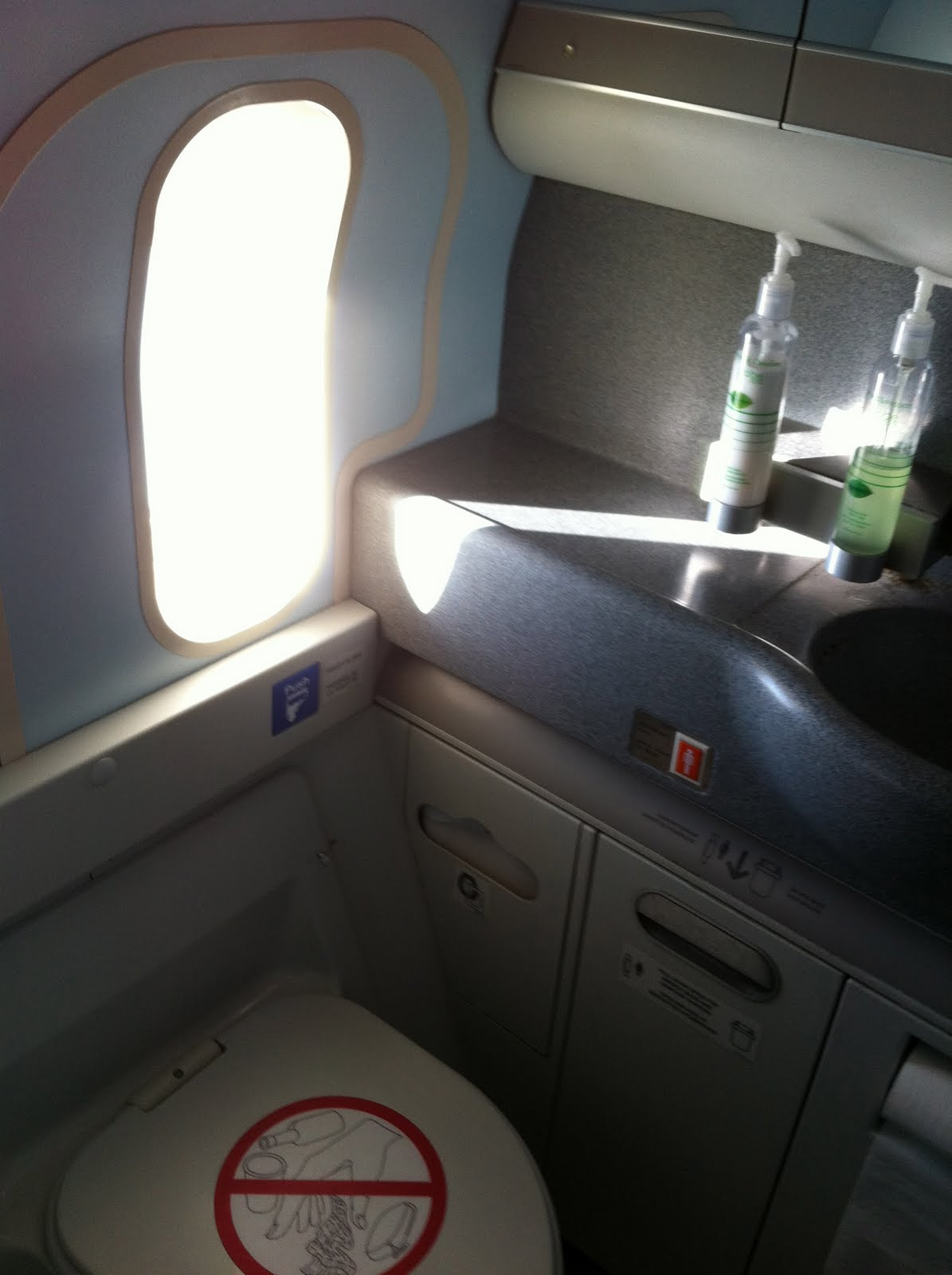Airplane bathrooms