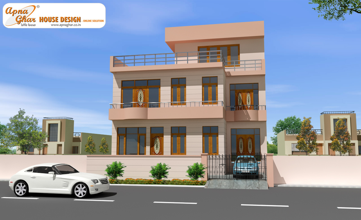 Modern beautiful duplex house design home decorating ideas for Duplex designs india