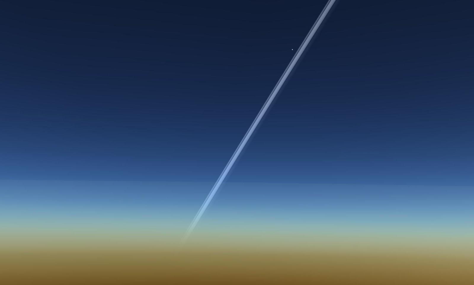 Vành đai của hành tinh Thổ và vệ tinh Enceladus của nó. Tác giả : John Brady ở Astronomy Central trên mạng xã hội Reddit.