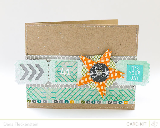 Ticket Strip Birthday card using the Studio Calico Block Party Kit by pixnglue