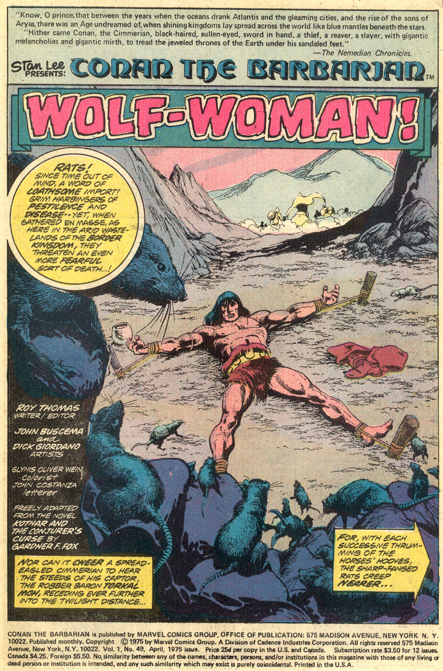 Conan the Barbarian (1970) Issue #49 #61 - English 2