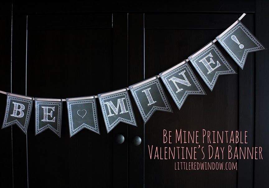 Printable Valentines Day Chalkboard Banner