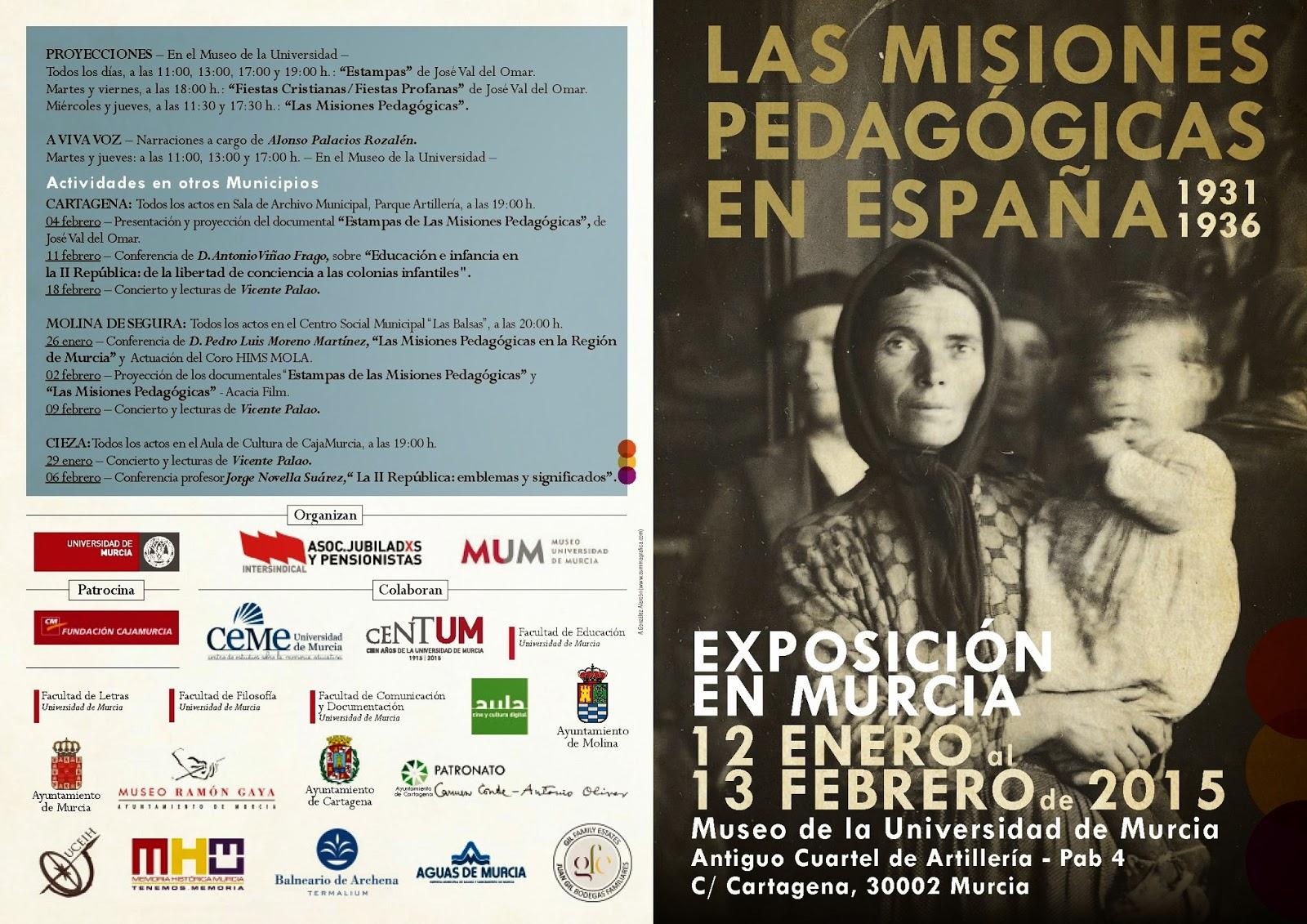 """Exposición: """"Las Misiones Pedagógicas en España 1931-1936""""."""