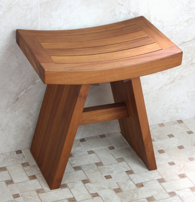 Great Ideas | Teak shower bench, Solid Bath chair ...