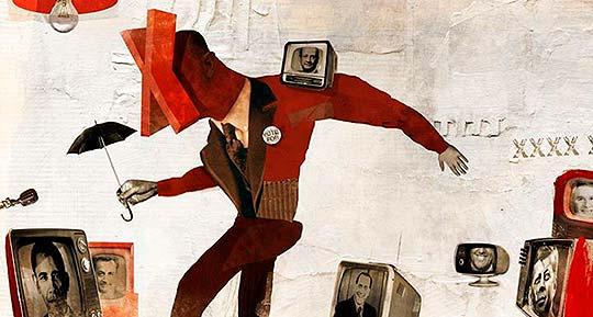 Destacado. Ilustración, collage y arte de Antonello Silverini