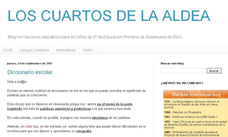 Blog de 4º de Primaria
