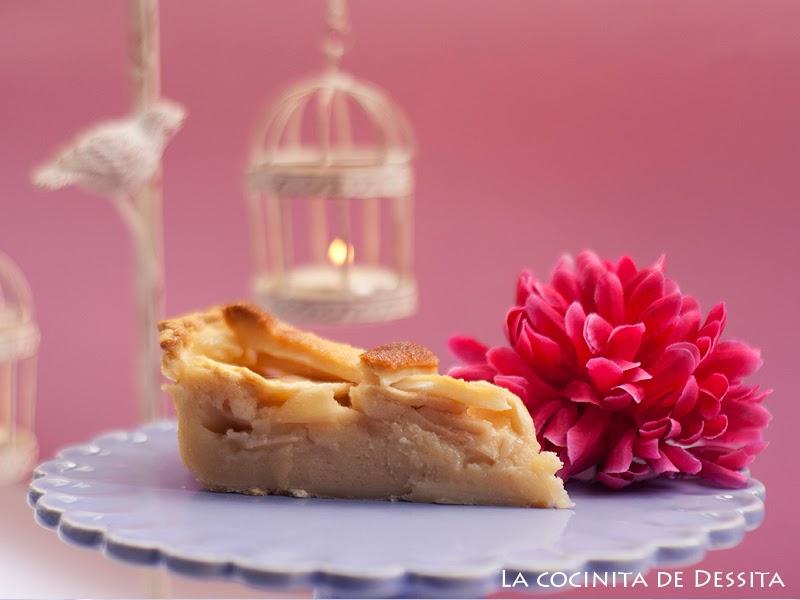 tarta de manzana cortada
