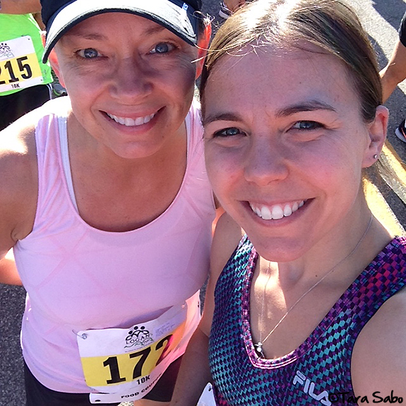 mom and daughter, running, family, logan's run 10k