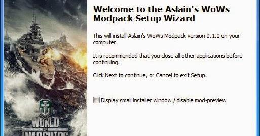 Gox World Of Tanks mods: [0 3 1] Aslain's WoWS ModPack Installer v0