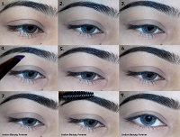 How I fill my eye brows-  Step by step tutorial