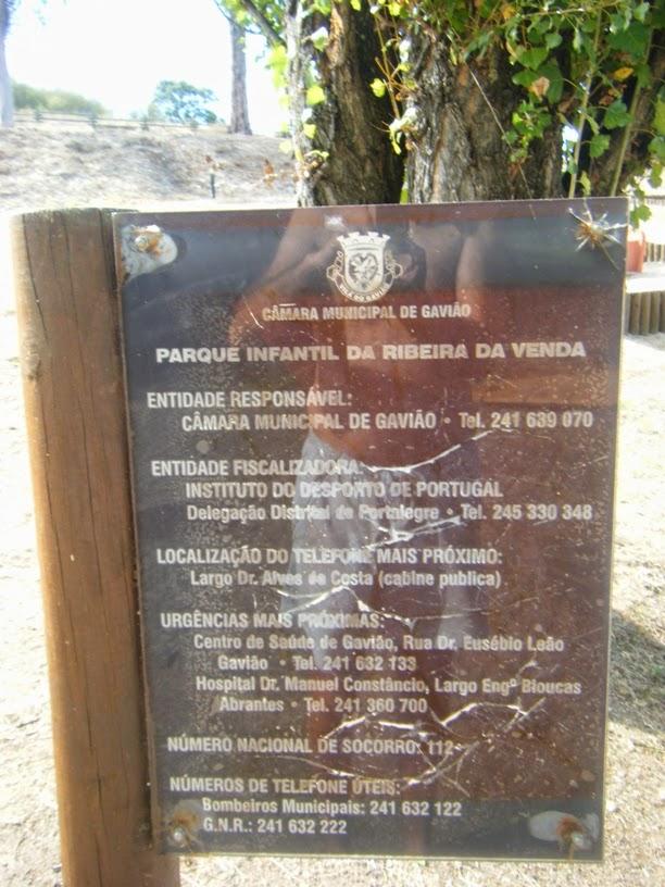 Placa Parque Infantil da Ribeira da Venda
