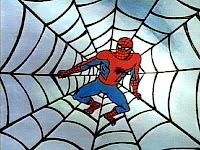 Spider-Man, caught in a web