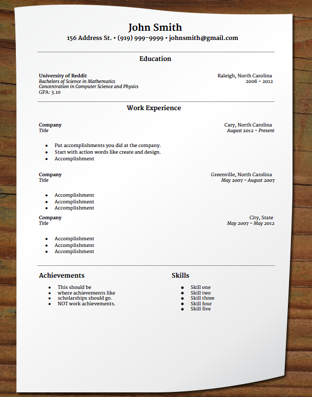 free your resume entry level resume merriweather