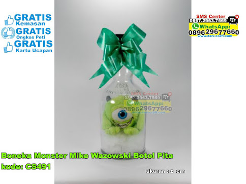 Boneka Monster Mike Wazowski Botol Pita