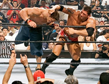 Batista John Cena Royal Rumble 2005 Final Elimination Botch