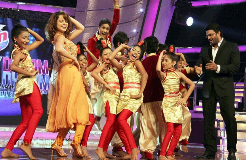 Kangana Ranaut On Sets of Chak Dhoom Dhoom