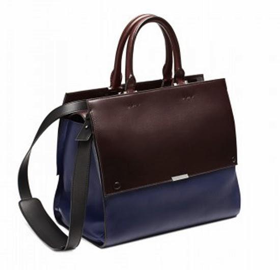 Victoria Beckham handbag navy oxblood aw13