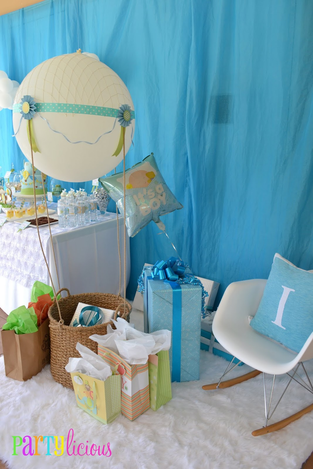 partylicious {up, up, and away baby shower}, Baby shower