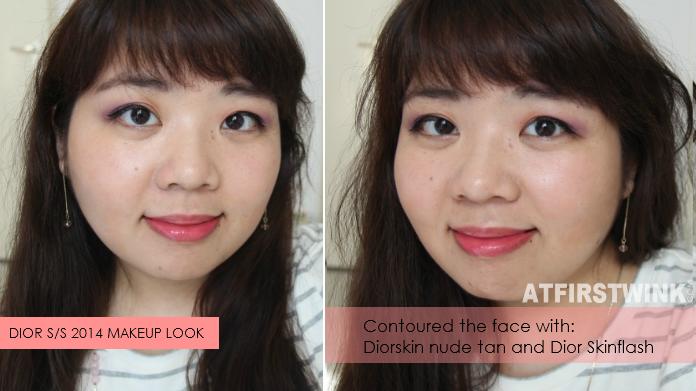 Dior Spring/Summer 2014 makeup look + contouring