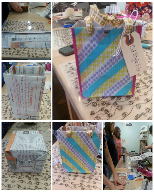crafts, crafty diva, paper bags, DIY, gift bag, newspaper bag,