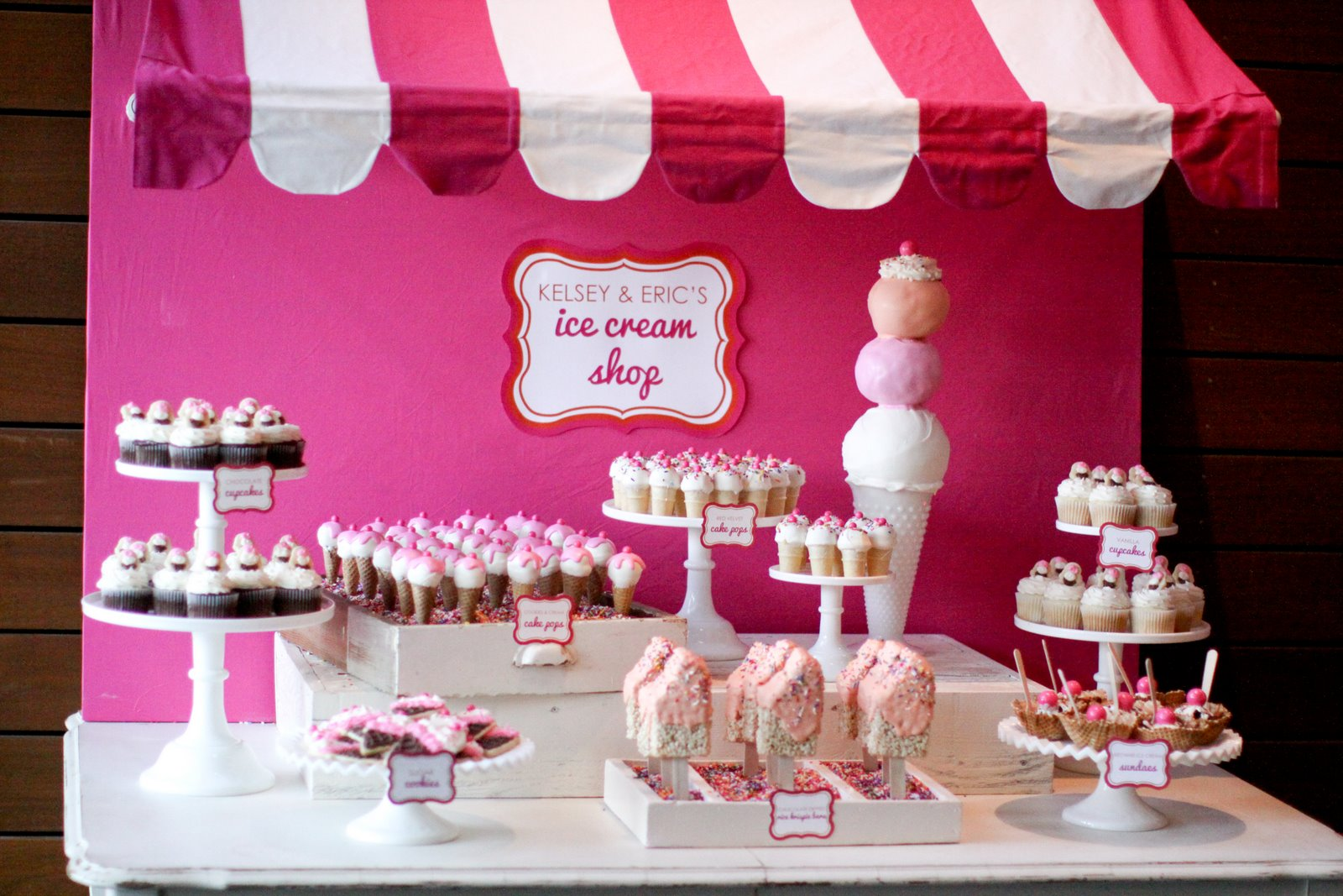 Jenny Keller Design: Ice Cream Shop Wedding