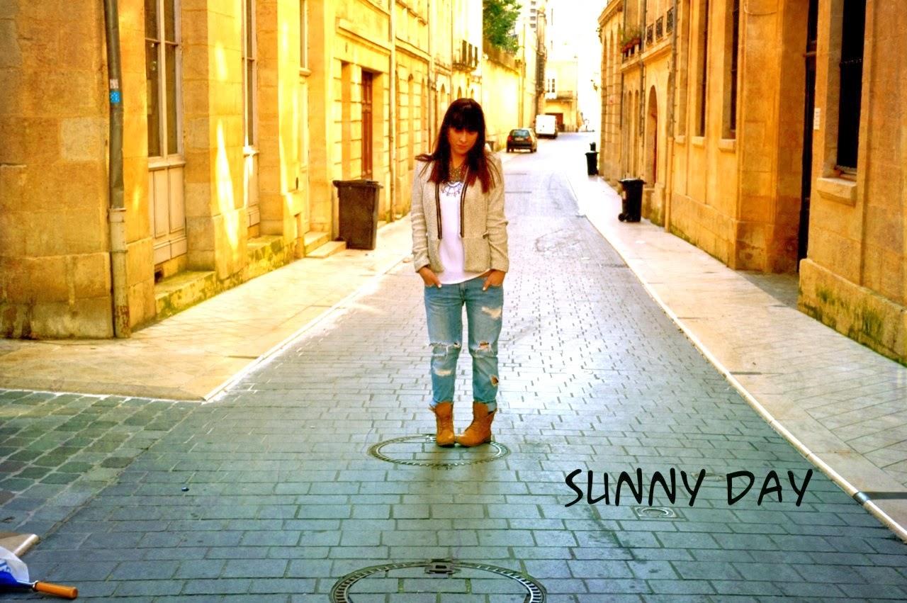 Sunny day = jean boyfriend (mon équation du mois de mars)