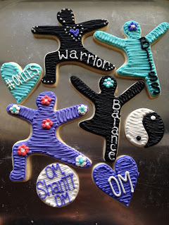 warrior 2 yoga cookies