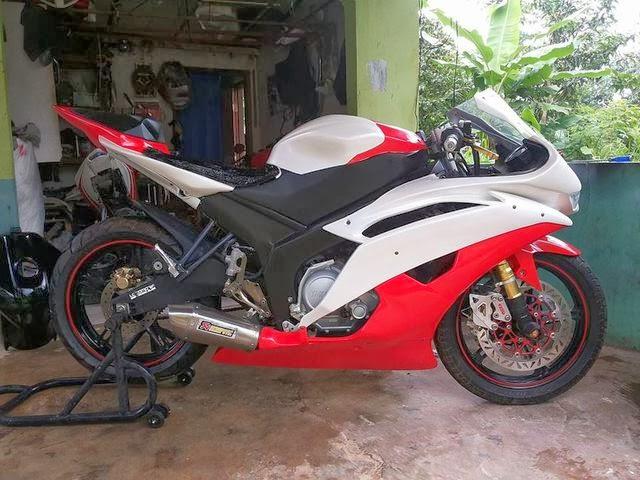 Modifikasi New Vixion Fairing Yamaha R6