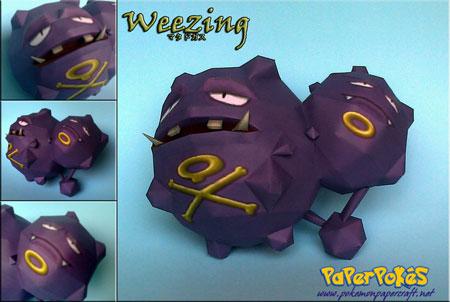 Pokemon Weezing Papercraft