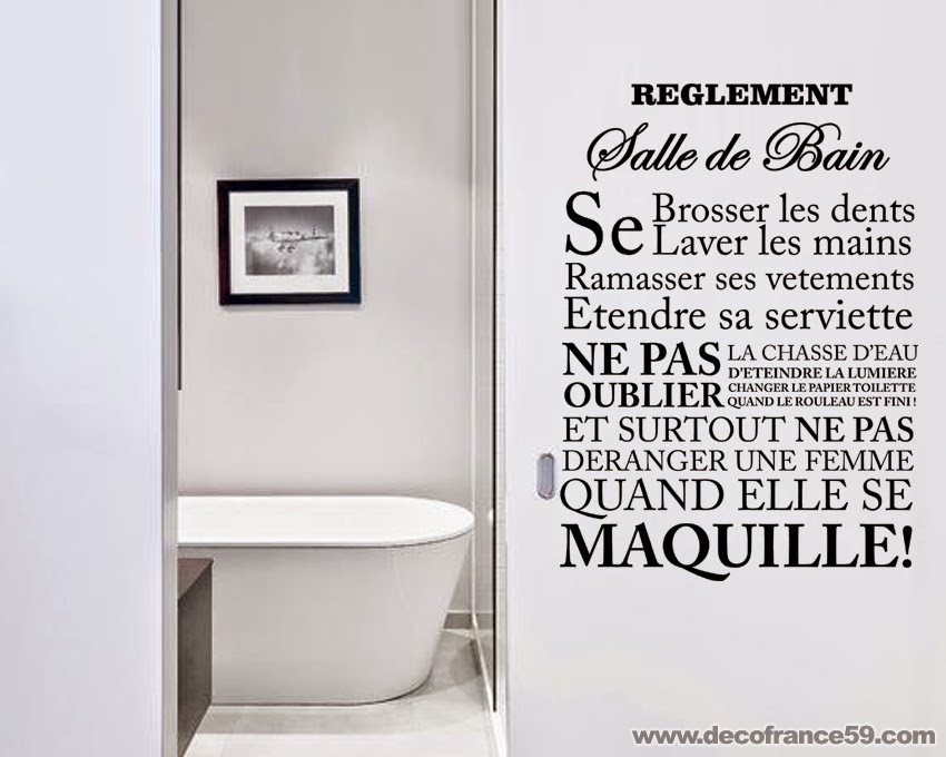 stickers salle de bain texte solutions pour la d coration int rieure de votre maison. Black Bedroom Furniture Sets. Home Design Ideas