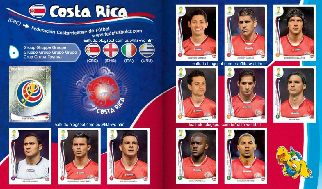Album COSTA RICA Fifa World Cup BRAZIL 2014 LIVE COPA DO MUNDO Sticker Figurinha Download Lealtudo