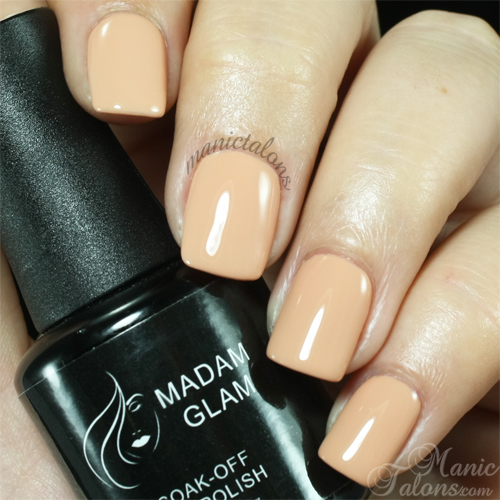 Madam Glam Gel Polish Love Me Nude Swatch