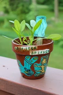 Grow Grin-itch Spinach - What Was I Scared Of? Dr. Seuss Activity via www.happybirthdayauthor.com