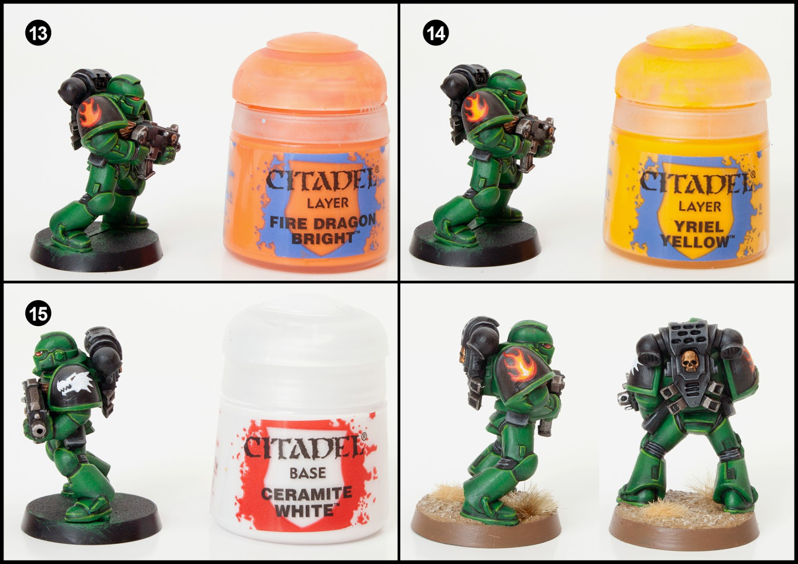 Tutorial: How to Paint Salamanders Space Marines - Tale of Painters