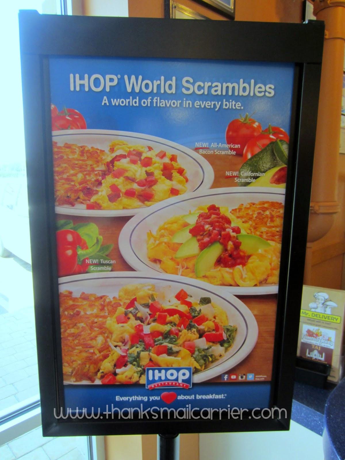 IHOP egg scrambles