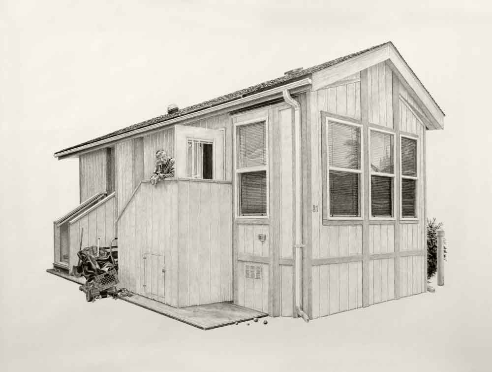 Don | 20x27in | Charcoal And Graphite On Paper