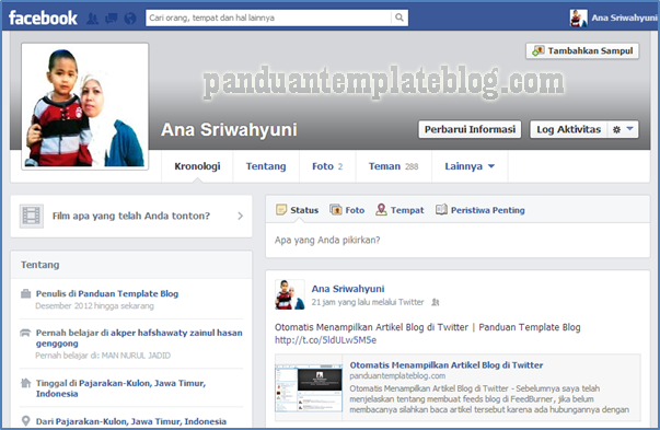 Otomatis Menampilkan Artikel Blog di FanPage Facebook