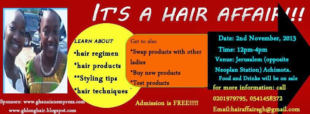 hair event in Ghana