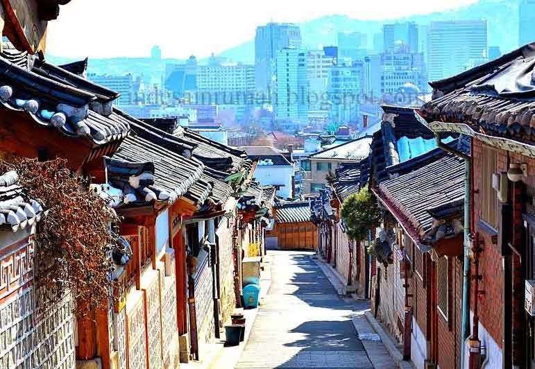 desain rumah sederhana ala korea dengan model hanok dan ac