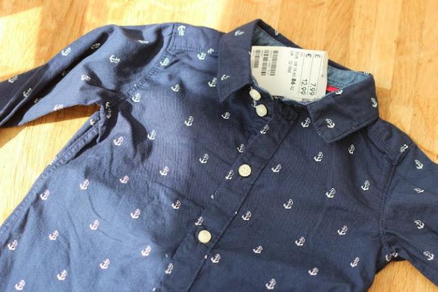 Navy blue anchor shirt from H&M