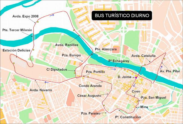 Transporte p blico en zaragoza vuelve el bus tur stico de for Tarifas piscinas municipales zaragoza