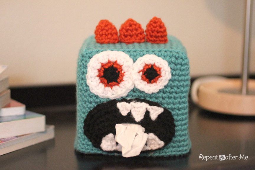 Crochet Monster Kleenex Box Cover Repeat Crafter Me