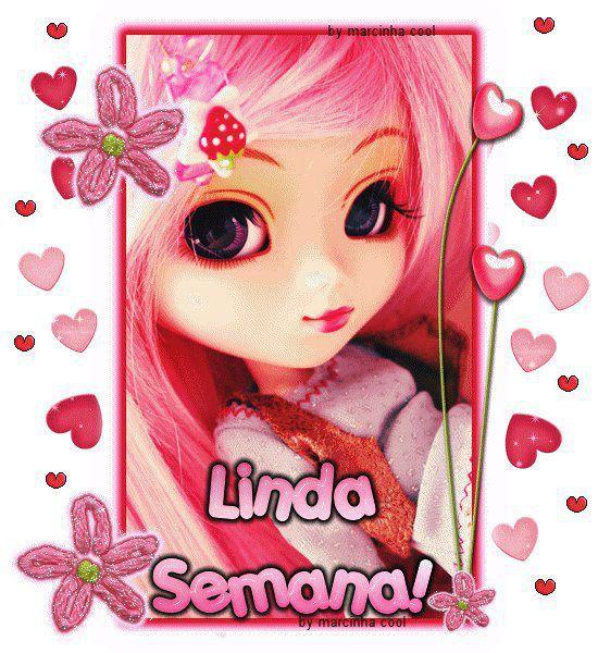 Muñeca de rosa te desea una Linda Semana - ※ Imágenes y Frases ...