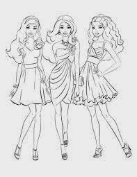 mewarnai gambar barbie dan teman-teman
