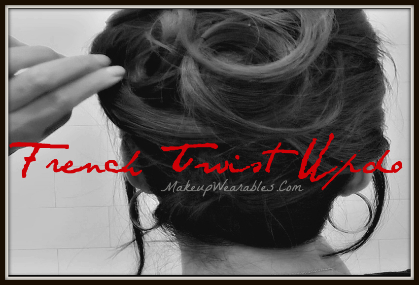 How to do a French Twist Hair Tutorial Video for Long Hair. Wedding hairstyles, Prom, Homecoming, Bridesmaid, Formal, Fancy Hairstyle Updo