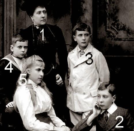 Princesse Henry de Battenberg et ses enfants en 1900