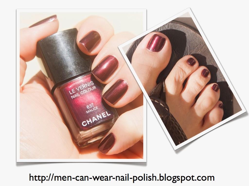 Men can wear nail polish: 2013