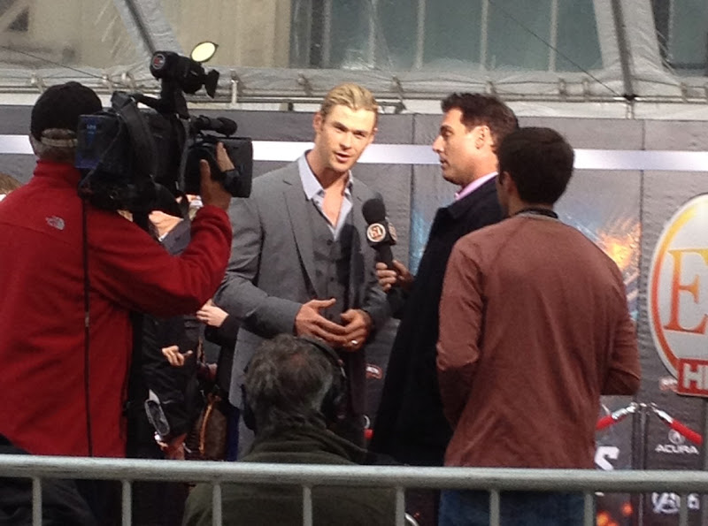 Chris Hemsworth Thor Avengers Hollywood premiere