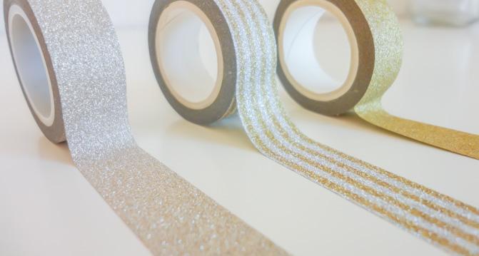 Silber Washi Tape