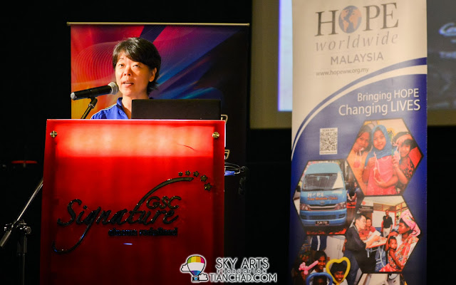 Ms Katy Lee (Executive Director of HOPE worldwide Malaysia)  @ GSC-HOPE worldwide Malaysia 2013 Donation Drive